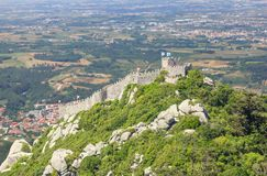 Castle of the Moors in Sintra, Portugal stock photography