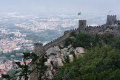 The Castle of the Moors , Sintra, Portugal Royalty Free Stock Image