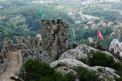 The Castle of the Moors , Sintra, Portugal Stock Photos