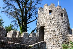 Castle of the Moors in Sintra, Portugal Royalty Free Stock Photography