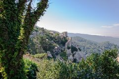 Castle of the Moors in Sintra, Portugal Stock Photo