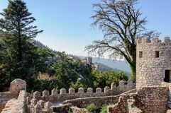 Castle of the Moors in Sintra, Portugal Stock Images