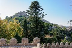 Castle of the Moors in Sintra, Portugal Royalty Free Stock Images