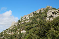 The Castle of the Moors, Sintra, Portugal Royalty Free Stock Images