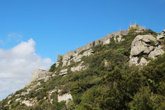 The Castle of the Moors, Sintra, Portugal Royalty Free Stock Image