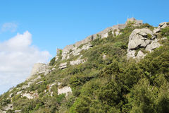 The Castle of the Moors, Sintra, Portugal Royalty Free Stock Photo