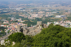 Castle of the Moors in Sintra, Portugal Royalty Free Stock Photos