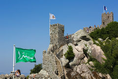 Castle of the Moors in Sintra, Portugal Royalty Free Stock Image