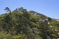 Castle of the Moors in Sintra Stock Photos