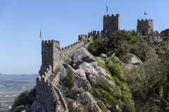 Castle of the Moors - Sintra - Portugal Stock Images
