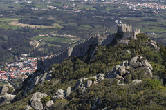 Castle of the Moors - Sintra - Portugal Royalty Free Stock Image