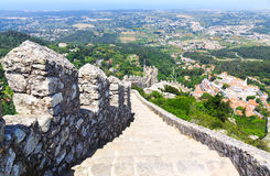 The Castle of the Moors in Sintra, Portugal Royalty Free Stock Images