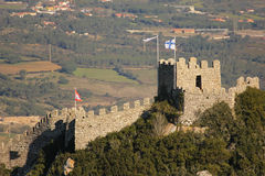 Castle of the Moors. Sintra. Portugal Royalty Free Stock Photo
