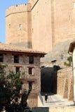 Castle Mora DE Rubielos Teruel Spanje Royalty-vrije Stock Afbeeldingen