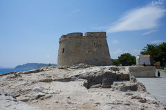 Castle of moraira. View of the small castle of moraira Stock Photography
