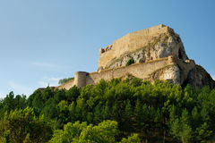 Castle of Morella. In Spain Stock Image