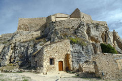 Castle of Morella, in Castellon, Spain Royalty Free Stock Images