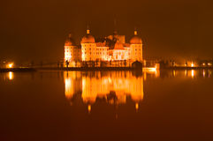The Castle at Moritzburg in Germany Stock Images