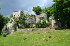 Castle Morsko, Poland stock photo