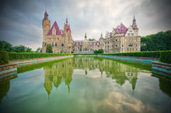 Castle in Moszna Stock Photos