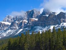 Castle Mountain Royalty Free Stock Image