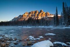 Castle Mountain in Banff National Park, Alberta, Canada stock image