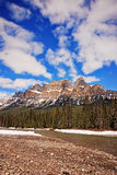 Castle Mountain in Banff National Park Canada Royalty Free Stock Image