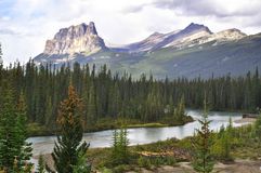 Castle Mountain Banff National Park Stock Photos