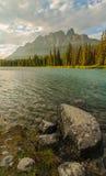 Castle Mountain Banff Sunset Vertical Stock Photography