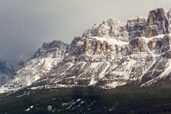 Western half of Castle Mountain, Banff, Alberta royalty free stock images
