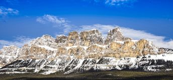 Castle Mountain royalty free stock photography