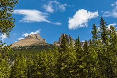 Castle mountain in the Rocky Mountain Stock Images