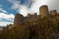 Castle on a mountain royalty free stock photos