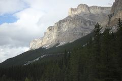 Castle mountain stock image
