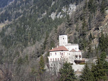 Castle in the mountains Royalty Free Stock Photos