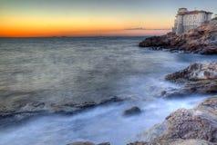 Castle of the mug, mug flat rocks, Etruscan Coast  Livorno Tusca Royalty Free Stock Photos