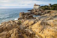 Castle of the mug, mug flat rocks, Etruscan Coast  Livorno Tusca Stock Photos