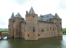 Castle of Muiden, the famous medieval castle in Netherlands Royalty Free Stock Images