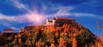 Castle or Mukachevo Castle Stock Photos