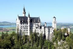 Castle in Munich. A foto of the castle Neuschwanschtein nearly to Munich Royalty Free Stock Images