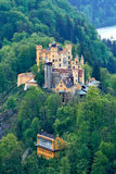 Castle in Germany. Hohenschwangau castle is a 19th century palace in southern Germany. It was the childhood residence of King Ludwig II of Bavaria and was built royalty free stock photos