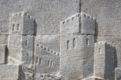 Castle Mural in relief Stock Image