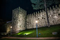 Castle Muralha Fernandina in the historical center of Porto, Portugal royalty free stock photos