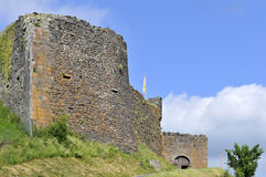 Castle of Murol in France Stock Image