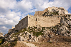 The castle of Mussomeli Royalty Free Stock Images