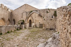 The castle of Mussomeli royalty free stock image