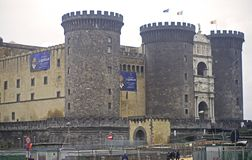 Castle in Naples, Italy Royalty Free Stock Images