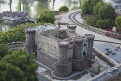 Castle of naples miniature Stock Photography