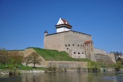 The castle of Narva. Royalty Free Stock Photos