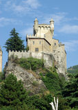 Castle near Aosta, Italy. Castello di Sarre - ancient castle in the Aosta Valley, Italy Royalty Free Stock Images